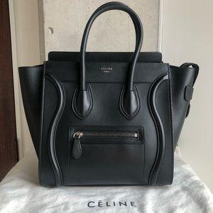 Celine black Micro Luggage Tote